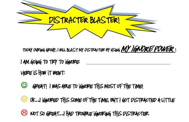 Self-Monitor distractor blaster