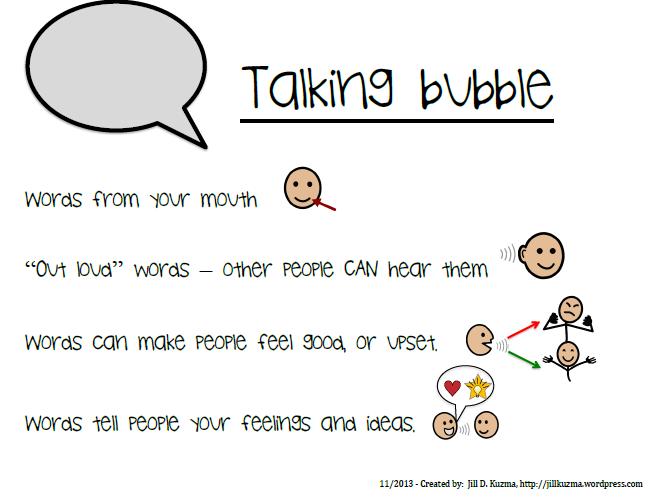New Descriptors Of Talking And Thinking Bubbles