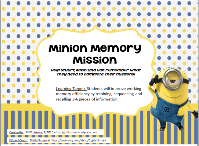 Minion Memory Mission cover